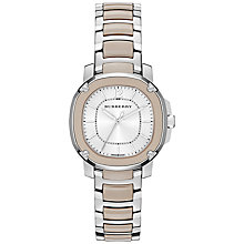 Buy Burberry BBY1850 Women's The Britain Ceramic Bracelet Strap Watch, Smoked Trench Online at johnlewis.com