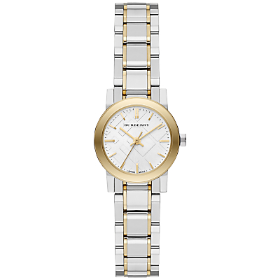 Burberry BU9217 Women's The City Bracelet Strap Watch, Silver/Yellow Gold