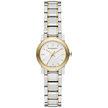 Buy Burberry BU9217 Women's The City Bracelet Strap Watch, Silver / Yellow Gold Online at johnlewis.com
