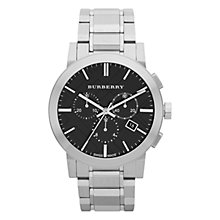 Buy Burberry Men's The City Chronograph Bracelet Strap Watch Online at johnlewis.com