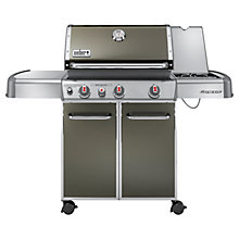 Buy Weber Genesis E330 3-Burner Gas Barbecue, Smoke Online at johnlewis.com