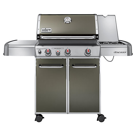 Buy Weber Genesis E330 3-Burner Gas Barbecue, Smoky Black Online at johnlewis.com