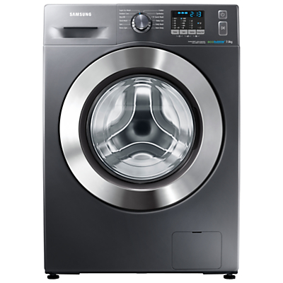 Image of Samsung WF70F5E2W4X ecobubble™ Freestanding Washing Machine, 7kg Load, A+++ Energy Rating, 1400rpm Spin, Graphite