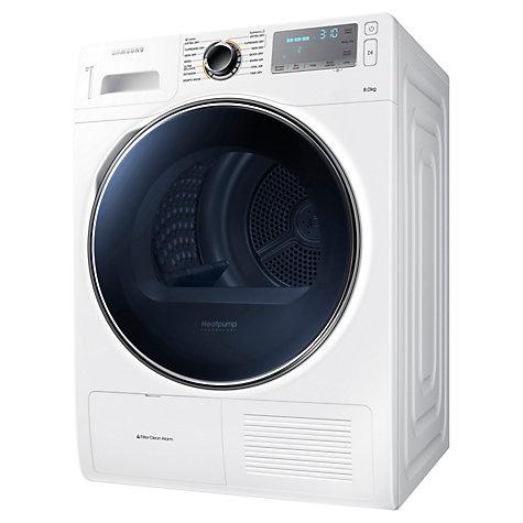 Buy samsung dv80h8100hw heat pump condenser tumble dryer 8kg load a energ - Lave linge samsung top ...