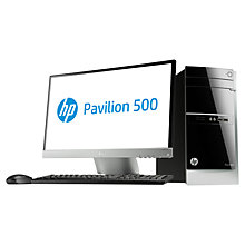 "Buy HP Pavilion 500-368nam Desktop PC and 23xi 23"" Monitor, Intel Core i7, 8GB RAM, 2TB Online at johnlewis.com"