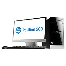 "Buy HP Pavilion 500-330nam Desktop PC and 22xi 21.5"" Monitor, AMD A10, 8GB RAM, 2TB Online at johnlewis.com"