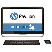 "Buy HP Pavilion 23-p000na All-in-One Desktop PC, Intel Core i5, 8GB RAM, 2TB, 23"" Touch Screen, Black Online at johnlewis.com"