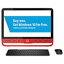 "Buy HP Envy 23-n001na All-in-One Desktop PC, Intel Core i7, 8GB RAM, 1TB, 23"" Touch Screen, Black Online at johnlewis.com"