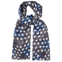 Buy White Stuff Scribble Flower Scarf, Blue Online at johnlewis.com