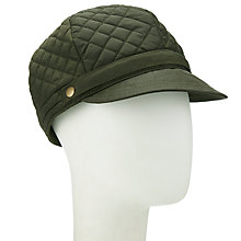 Buy John Lewis Quilted Bakerboy Cap, Olive Online at johnlewis.com