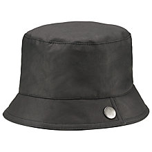 Buy John Lewis Wax Cloche Hat, Black Online at johnlewis.com