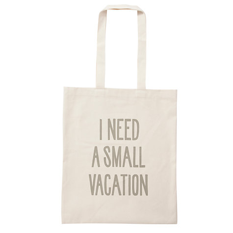 Buy Alphabet Bags Canvas Shopper Bag, Vacation Online at johnlewis.com