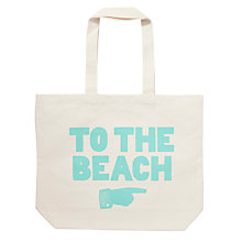 Buy Alphabet Bags Big Canvas Tote Bag, To The Beach Online at johnlewis.com