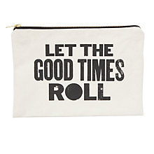 Buy Alphabet Bags Large Canvas Pouch Bag, Good Times Online at johnlewis.com