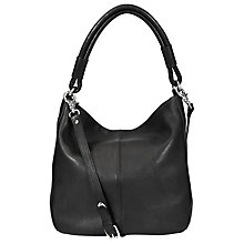 Buy John Lewis Slouchy Leather Hobo Bag, Black Online at johnlewis.com