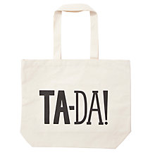 Buy Alphabet Bags Big Canvas Tote Bag, Ta-da! Online at johnlewis.com