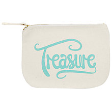 Buy Alphabet Bags Little Canvas Pouch Bag, Treasure Online at johnlewis.com
