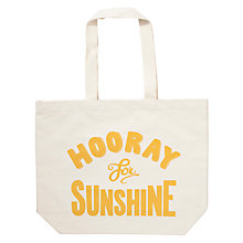 Buy Alphabet Bags Big Canvas Tote Bag, Hooray For Sunshine Online at johnlewis.com