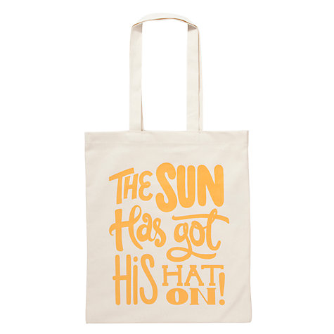 Buy Alphabet Bags Canvas Shopper Bag, The Sun Online at johnlewis.com