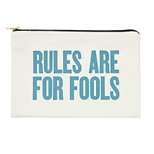 Buy Alphabet Bags Large Canvas Pouch Bag, Rules Are For Fools Online at johnlewis.com