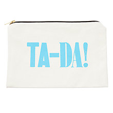 Buy Alphabet Bags Large Canvas Pouch Bag, Ta-da! Online at johnlewis.com