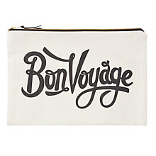 Buy Alphabet Bags Extra Large Canvas Pouch Bag, Bon Voyage Online at johnlewis.com
