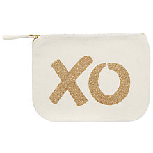 Buy Alphabet Bags Little Canvas Pouch Bag, Xo Online at johnlewis.com