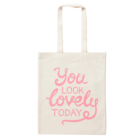 Buy Alphabet Bags Canvas Shopper Bag, You Look Lovely Online at johnlewis.com