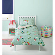 Buy little home at John Lewis Christmas Snowman Single Duvet Cover and Pillowcase Set Online at johnlewis.com