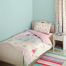 Buy little home at John Lewis Fairy Princess Embroidered Single Duvet Cover and Pillowcase Set Online at johnlewis.com