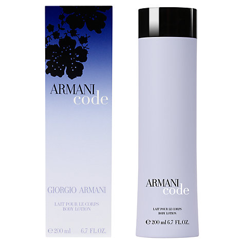 Buy Giorgio Armani Code Body Lotion, 200ml Online at johnlewis.com