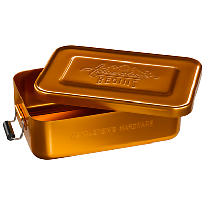 Gentlemen's Hardware The Adventure Begins Lunch Tin, Gold