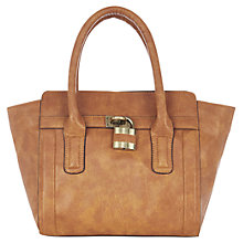 Buy Warehouse Padlock Tote Bag, Tan Online at johnlewis.com