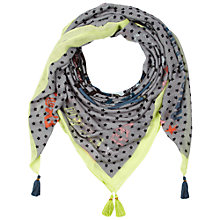 Buy Oui Star Paisley Scarf, Dark Grey/Green Online at johnlewis.com