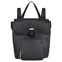 Buy Whistles Portland Leather Backpack, Black Online at johnlewis.com