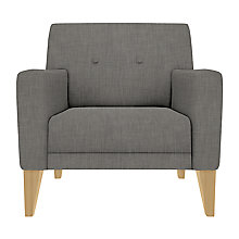 Buy House by John Lewis Louis Armchair, Fraser Steel Online at johnlewis.com