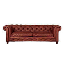 Buy Halo Earle Grand Chesterfield Leather Sofa Online at johnlewis.com
