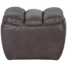 Buy Halo Russo Aniline Leather Foostool, Rider Gunmetal Online at johnlewis.com