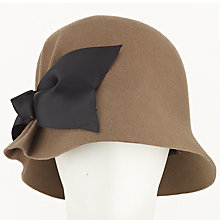Buy John Lewis Soft Felt Pleat Cloche Hat, Taupe Online at johnlewis.com