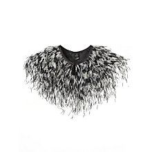Buy John Lewis Ostrich Feather Cape, Black/Silver Online at johnlewis.com