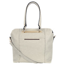 Buy Oasis Sara Minimal Metal Satchel Bag, Grey Online at johnlewis.com