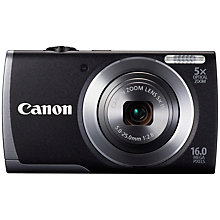 "Buy Canon PowerShot A3500 IS Camera, HD 720p, 16MP, 5x Optical Zoom, Wi-Fi with 3"" LCD Screen with 16GB + 8GB Memory Card Online at johnlewis.com"