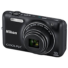 "Buy Nikon Coolpix S6600 Digital Camera, HD 1080i, 16MP, 12x Optical Zoom, 2.7"" LCD Screen with 4GB Memory Card & Mini Tripod Online at johnlewis.com"