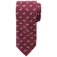 Buy John Lewis Reindeer Print Silk Tie Online at johnlewis.com