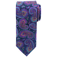 Buy John Lewis Party Paisley Satin Tie, Purple Online at johnlewis.com