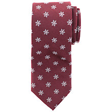 Buy John Lewis Snowflake Print Silk Tie Online at johnlewis.com