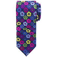Buy John Lewis Bold Flower Tie, Navy Online at johnlewis.com