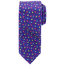Buy John Lewis Dot Print Silk Tie Online at johnlewis.com