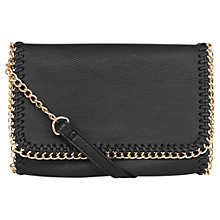 Buy Warehouse Chain Detail Across Body Bag, Black Online at johnlewis.com