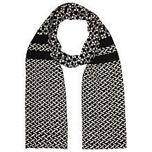 Buy Becksondergaard Anastasia Silk Scarf, Black Online at johnlewis.com